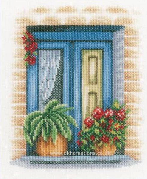 Blue Window  Cross Stitch Kit